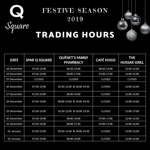 FESTIVE TRADING HOURS DECEMBER 2019 INSTAGRAM VERSION