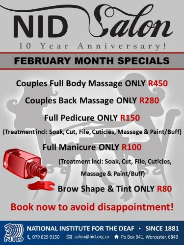 February Month Specials