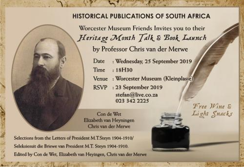 Invitation - Historical Publications
